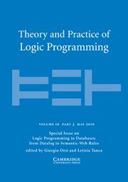 Theory and Practice of Logic Programming Volume 10 - Issue 3 -  Logic Programming in Databases: from Datalog to Semantic-Web Rules