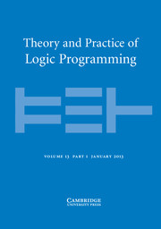 Theory and Practice of Logic Programming Volume 13 - Issue 1 -