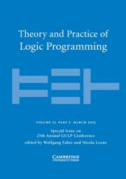 Theory and Practice of Logic Programming Volume 13 - Issue 2 -  25th Annual GULP Conference