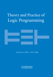 Theory and Practice of Logic Programming Volume 9 - Issue 3 -