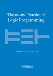 Theory and Practice of Logic Programming Volume 9 - Issue 4 -
