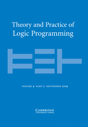 Theory and Practice of Logic Programming Volume 9 - Issue 5 -