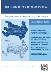 Earth and Environmental Science Transactions of The Royal Society of Edinburgh Volume 104 - Issue 2 -
