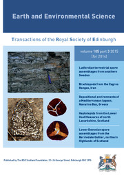 Earth and Environmental Science Transactions of The Royal Society of Edinburgh Volume 105 - Issue 3 -