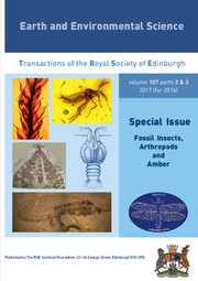 Earth and Environmental Science Transactions of The Royal Society of Edinburgh Volume 107 - Issue 2-3 -  Fossil Insects, Arthropods and Amber