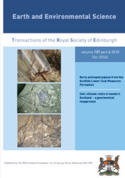 Earth and Environmental Science Transactions of The Royal Society of Edinburgh Volume 107 - Issue 4 -