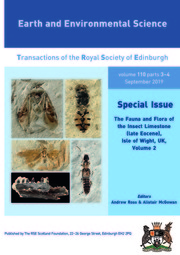 Earth and Environmental Science Transactions of The Royal Society of Edinburgh Volume 110 - Issue 3-4 -  The Fauna and Flora of the Insect Limestone (late Eocene), Isle of Wight, UK, Volume 2