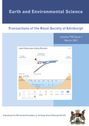 Earth and Environmental Science Transactions of The Royal Society of Edinburgh Volume 112 - Issue 1 -