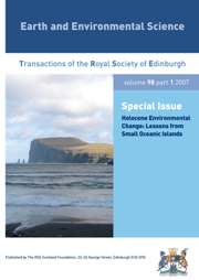 Earth and Environmental Science Transactions of The Royal Society of Edinburgh Volume 98 - Issue 1 -