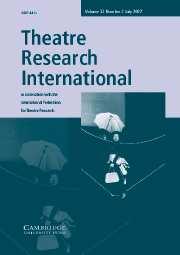 Theatre Research International Volume 32 - Issue 2 -