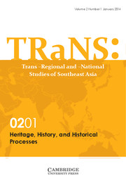 TRaNS: Trans-Regional and -National Studies of Southeast Asia Volume 2 - Special Issue1 -  Heritage, History, and Historical Processes