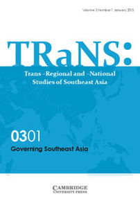 TRaNS: Trans-Regional and -National Studies of Southeast Asia Volume 3 - Special Issue1 -  Governing Southeast Asia