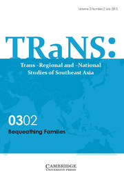 TRaNS: Trans-Regional and -National Studies of Southeast Asia Volume 3 - Special Issue2 -  Bequeathing Families