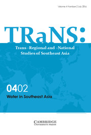 TRaNS: Trans-Regional and -National Studies of Southeast Asia Volume 4 - Special Issue2 -  Water in Southeast Asia