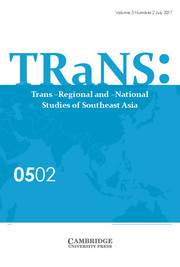 TRaNS: Trans-Regional and -National Studies of Southeast Asia Volume 5 - Issue 2 -