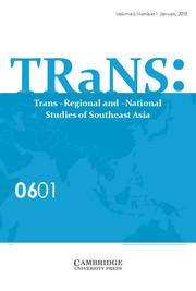 TRaNS: Trans-Regional and -National Studies of Southeast Asia Volume 6 - Issue 1 -