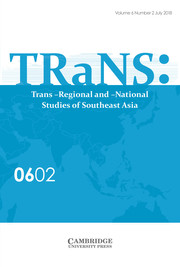 TRaNS: Trans-Regional and -National Studies of Southeast Asia Volume 6 - Issue 2 -