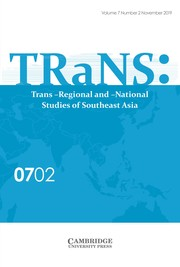 TRaNS: Trans-Regional and -National Studies of Southeast Asia Volume 7 - Issue 2 -