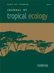 Journal of Tropical Ecology Volume 22 - Issue 5 -