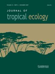Journal of Tropical Ecology Volume 23 - Issue 6 -