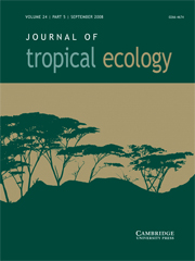 Journal of Tropical Ecology Volume 24 - Issue 5 -