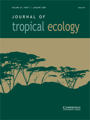 Journal of Tropical Ecology Volume 25 - Issue 1 -
