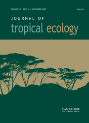 Journal of Tropical Ecology Volume 25 - Issue 6 -