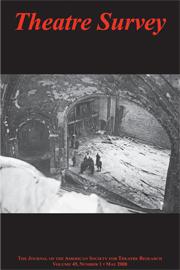 Theatre Survey Volume 49 - Issue 1 -