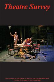 Theatre Survey Volume 49 - Issue 2 -