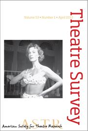 Theatre Survey Volume 53 - Issue 1 -