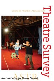 Theatre Survey Volume 58 - Issue 1 -