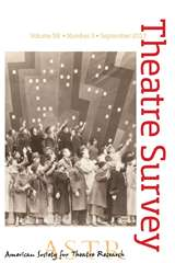 Theatre Survey Volume 58 - Issue 3 -