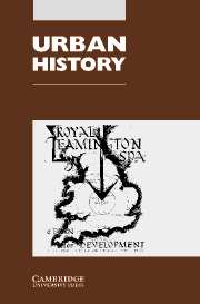 Urban History Volume 30 - Issue 2 -