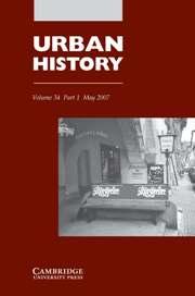Urban History Volume 34 - Issue 1 -
