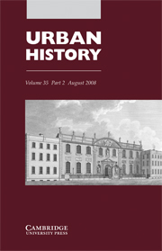 Urban History Volume 35 - Issue 2 -