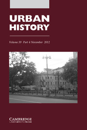 Urban History Volume 39 - Issue 4 -