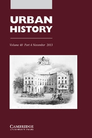 Urban History Volume 40 - Issue 4 -  Music and the city