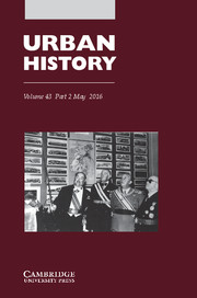 Urban History Volume 43 - Issue 2 -
