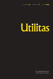 Utilitas Volume 19 - Issue 2 -