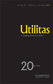 Utilitas Volume 20 - Issue 4 -