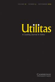 Utilitas Volume 21 - Issue 3 -