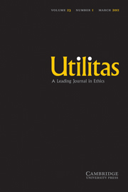 Utilitas Volume 23 - Issue 1 -