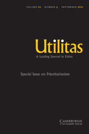 Utilitas Volume 24 - Issue 3 -  Prioritarianism