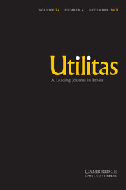 Utilitas Volume 24 - Issue 4 -