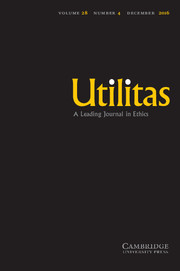 Utilitas Volume 28 - Issue 4 -