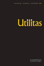Utilitas Volume 29 - Issue 3 -