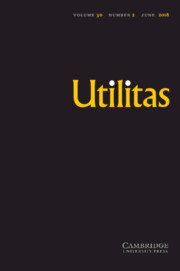 Utilitas Volume 30 - Issue 2 -