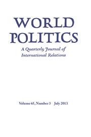 World Politics Volume 65 - Issue 3 -