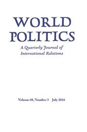 World Politics Volume 68 - Issue 3 -