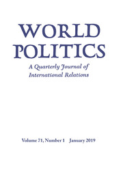 World Politics Volume 71 - Issue 1 -